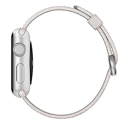 Apple Watch band, Oitom Woven Nylon Watch Band Strap (Pearl, Apple Watch 38mm)