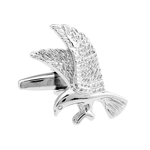 Men's Silver Eagle Design Animal Suit Silver Cufflinks for sale  Delivered anywhere in Canada