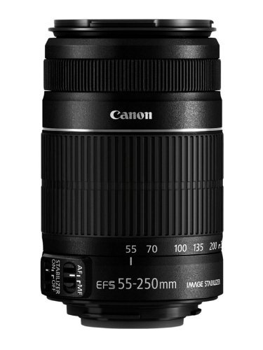 Zoom Canon Eos Digital Slr (Canon EF-S 55-250mm f/4-5.6 IS Telephoto Zoom Lens for Canon EOS DSLR Cameras (White)