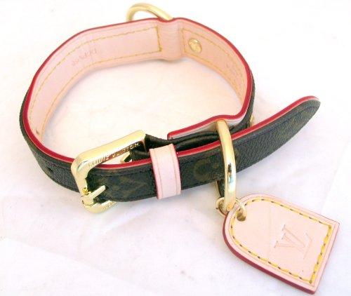 ff8bea6a0c5e Amazon.com   Louis Vuitton Dog Collar and Leash Set Medium   Pet Leashes    Pet Supplies