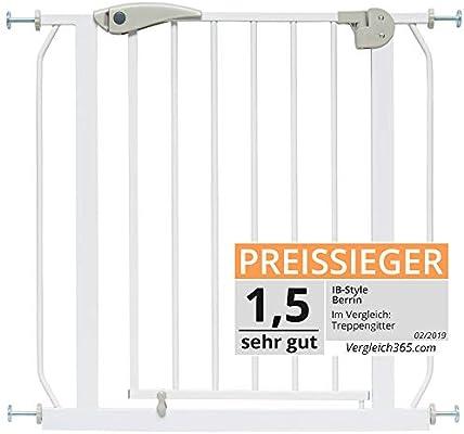 IB-Style – Escaleras rejilla/rejilla de puerta Berrin para pinzas, 67 – 175 cm ampliable con extensiones | Auto de Close – Función de cierre automático, 90 ° Stop | de uso con
