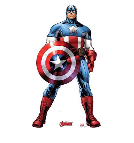 Cut Out Decorations - Captain America - Marvel's Avengers Animated - Advanced Graphics Life Size Cardboard Standup