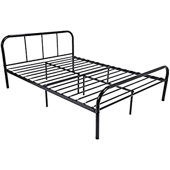 Amazon.com: Metal Bed Frame Full Size, GreenForest 10 Legs ...