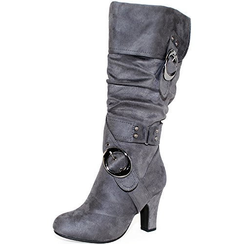 Grey Boots For Women - 5