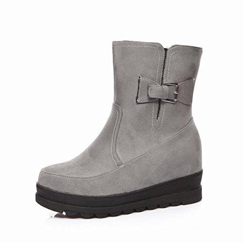 Charm Foot Womens Outdoor Winter Platform High Top Snow Boots Grey MDhC4Poi