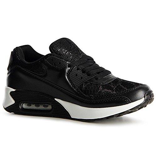 Noir Topschuhe24 De Sneaker Femmes Sport Chaussures aaPF4qA6c