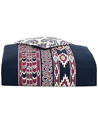 Whim by Martha Stewart Wild Child 3 Piece Full / Queen Comforter Set Dark Blue with Aztec Inspired ()