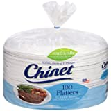 Chinet Classic White 12-5/8 x 10'' Platters (100 ct.) (pack of 6)