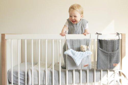 Baby's Only 174512 - Bolso de punto (30 x 25 cm) gris blanco