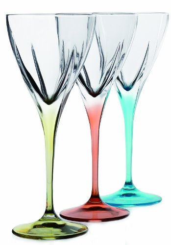 Fusion Crystal Multicolor Cordial Liquor Set, 6-Piece