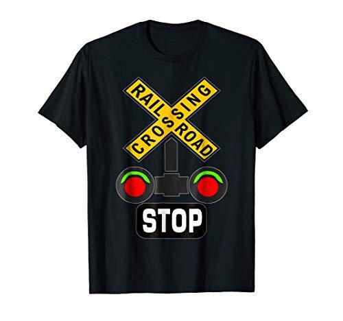 Train Railroad Crossing Lights Halloween Costume T-Shirt ()
