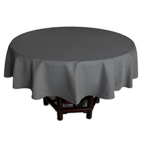 al Waffle Weave Design Cloth Tablecloths Spill and Stain-Proof, Anti-Water Mildew Free 100% Polyester Table Cover Indoor for Home/Hotel / Restaurant, Round 70-inch for 6 Seats ()