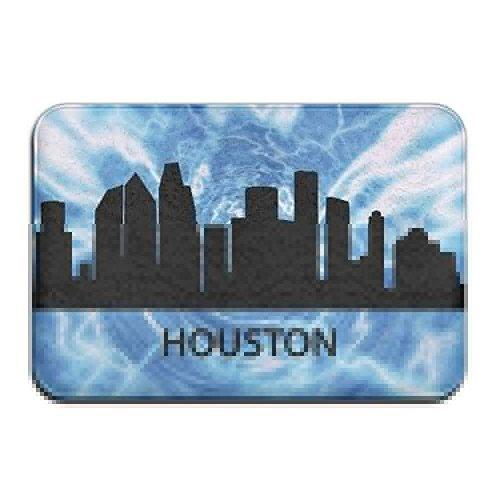 Cheap  Inside & Outside Carpets Floor Door Mat Houston Skyline Texas Design Pattern..