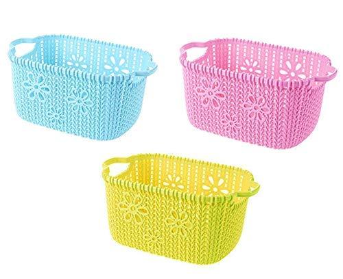 Plastic Basket Kitchen Container Household Bathroom Storage Organizer