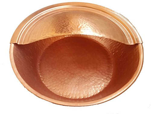 Egypt gift shops HANDMADE Petite Polished Copper Pedicure Pedi Foot Spa Bath Massager Tanning Salon Bowl Beauty Clinic Footrest by Egypt gift shops (Image #1)