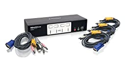 IOGEAR 4-Port KVMP Switch with USB 2.0 Hub and Audio, GCS1804