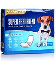 All-Absorb A26 Male Dog Wrap, 50 Count, Small
