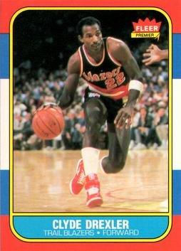 1986 Fleer Basketball Cards - 1986-87 Fleer Basketball #26 Clyde Drexler Rookie Card