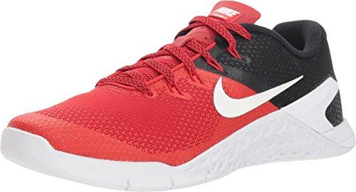NIKE Men's Metcon 4 Training Shoes (12-M, Red/Black/White)