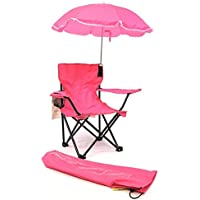 Redmon For Kids Beach Baby Kids Umbrella Camp Chair, Pink