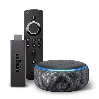 Fire TV Stick bundle with Echo Dot (3rd Gen - Charcoal)