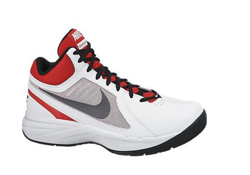 New Nike Men's The Overplay VIII Basketball Shoes White/University Red 6
