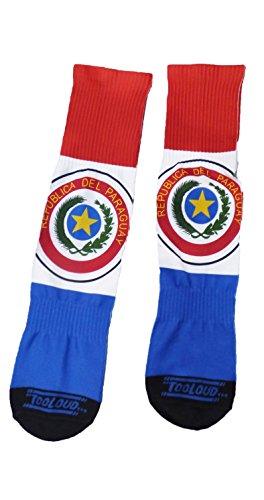 TooLoud Paraguay Flag AOP Adult Crew Socks Mens sz. 9-13 All
