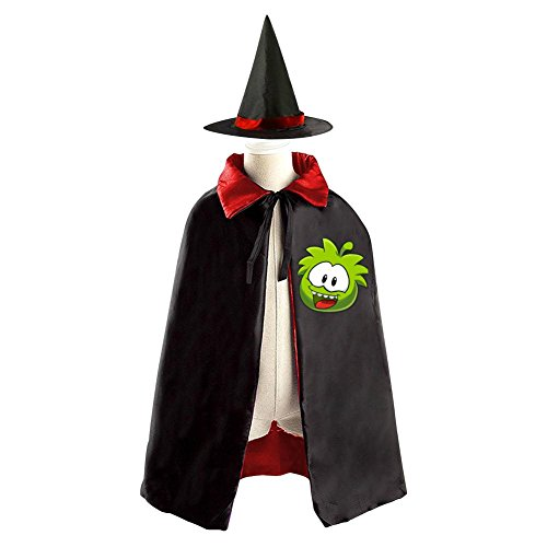 DBT My om nom Logo Childrens' Halloween Costume Wizard Witch Cloak Cape Robe and (Cut The Rope Om Nom Costume)