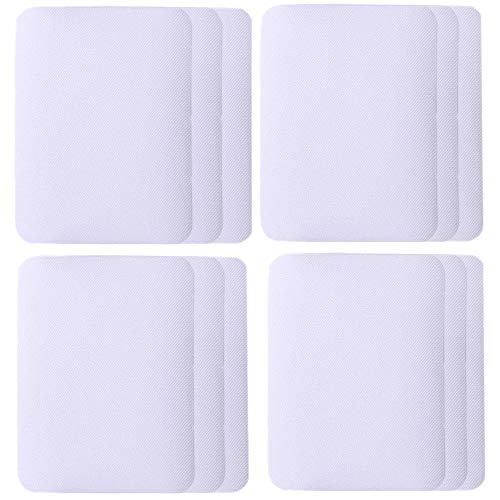 SHELCUP 12PCS Iron on Patches for Clothing Repair , Denim Patches for Jeans Kit,Iron for Inside/Outside Jeans & Clothing Repair,White