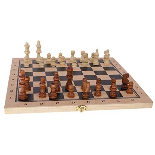 Kesoto 駒 チェス おもちゃ 木製 バックギャモン ボードゲーム 知育 趣味 チェッカー 3種類遊び方