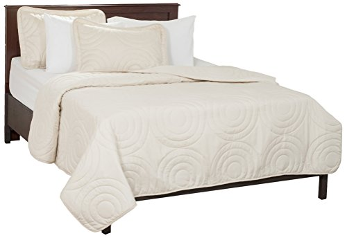 Lavish Home Solid Embossed 2 Piece Quilt Set - Twin - Ivory