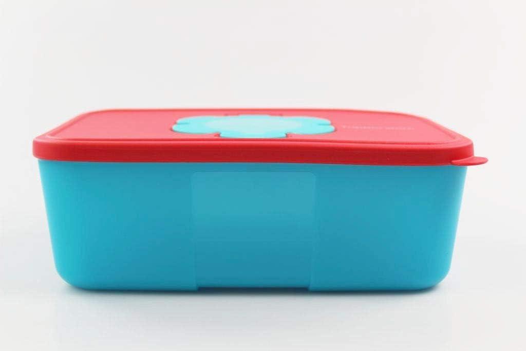 Tupperware Caja Portatoallitas 1,5L Rojo con Parte Inferior Turquesa 35134: Amazon.es: Hogar