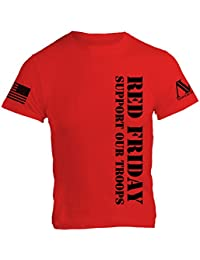 American Warrior Mens RED Friday T-Shirt 100% Cotton