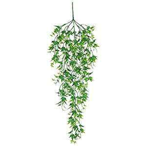 helegeSONG Fake Flowers Silk Plastic Artificial Plant 1Pc Artificial Silk Vine Plant Rattan Wicker Willow Wedding Home Hanging Decor for Home,Office,Wedding,Garden, Pool, Gift, Desk, Hotel - Green 119