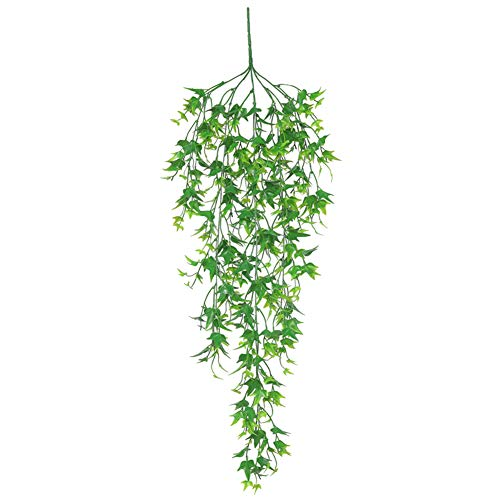 yunbox299 1Pc Artificial Wicker Leaf Plants, Artificial Silk Plant Vine Rattan, Willow Party Wedding Home Wall Hanging Decor - 30.71