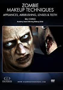 Zombie Makeup - Appliances, Airbrushing, Lenses & Teeth: Academy Award winner Bill Corso shows the way to apply zombie makeup & zombie bite makeup.