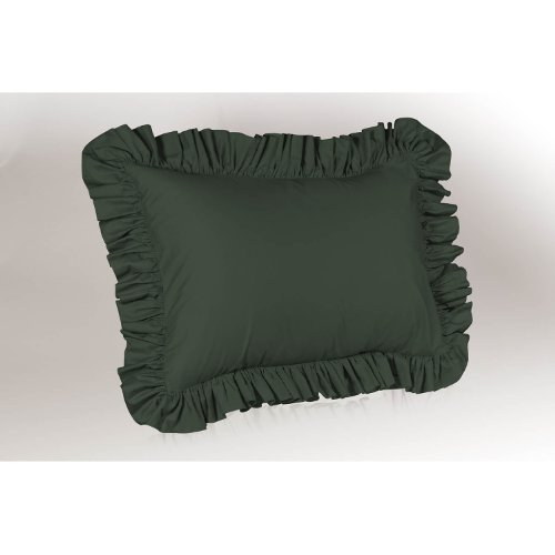Shop Bedding Ruffle Pillow case - Standard Pillow sham (Hunter), Ruffle Pillow Cover.