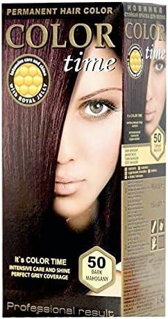 Color time, tinte permanente para el cabello de color caoba oscuro 50