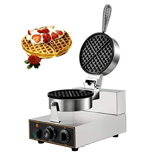 VBENLEM 110V Commercial Round Waffle Maker Nonstick 1100W Electric Waffle...