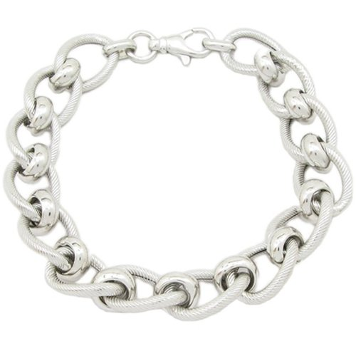 Pour femme en argent Sterling 925 Maille jaseron mbmi75 bracelet Fantaisie