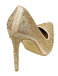 Women's Pointed Toe Rhinestones High Heels