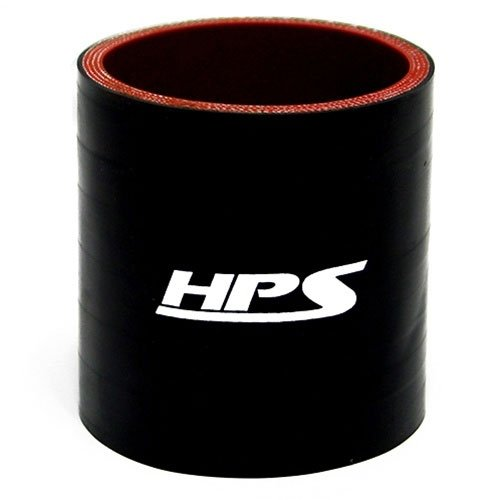 (HPS HTSC-225-L4-BLK Silicone High Temperature 4-ply Reinforced Straight Coupler Hose, 85 PSI Maximum Pressure, 4
