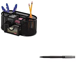 KITROL1746466SAN60151 - Value Kit - Uni-ball Roller Ball Stick Dye-Based Pen (SAN60151) and Rolodex Mesh Pencil Cup Organizer (ROL1746466)