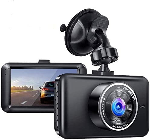Parking Monitor G-Sensor Car Camera with WDR Dash Cam 1080P FHD DVR Car Driving Recorder,DVR 3 IPS Screen Dashboard Camera for Cars with 170/° Wide Angle Loop Recording,Motion Detection