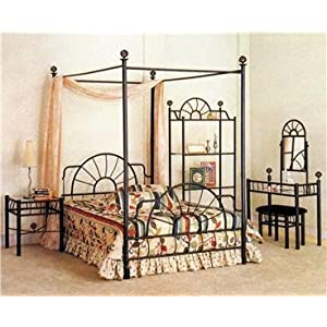 HomemartAmerica Nice Queen Size Canopy Bed Great for Back to School