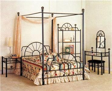 - HomemartAmerica Nice Queen Size Canopy Bed Great for Back to School