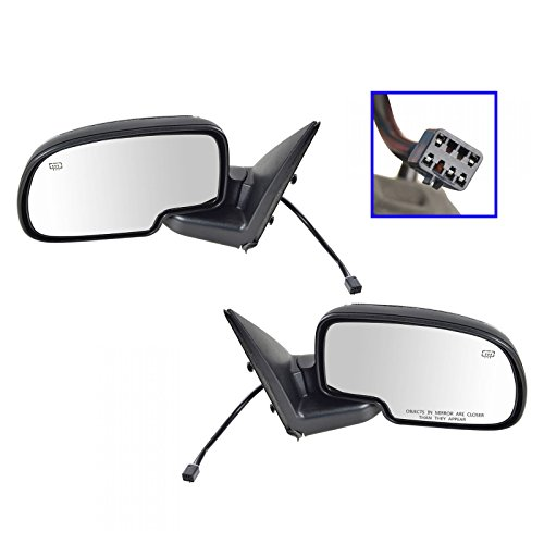 Set Mirrors Chrome Side - Chrome Heated Power Side View Mirrors Left & Right Pair Set for Chevy GMC Truck