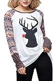 Best Yacun White Blouses - Yacun Women Casual Elk Christmas Shirt Long Sleeve Review