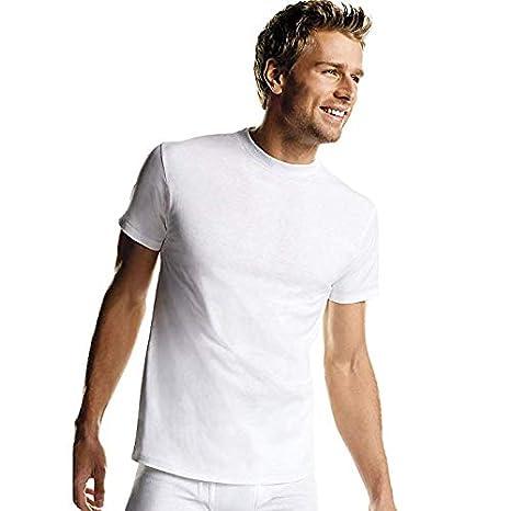 Hanes Mens Crew Neck Tagless Dyed T-Shirts Black /& Grey