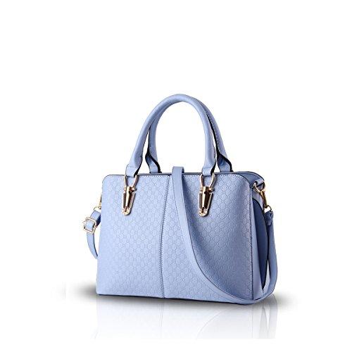 NICOLE&DORIS bolsos retro tendencia de la moda femenina del bolso grande del bolso de la bolsa de mensajero de hombro ocasional para las mujeres(Yellow) Azure